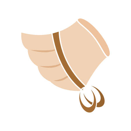 Illustration for Isolated pilgrim woman hat icon. Thanksgiving season - Vector illustration design - Royalty Free Image