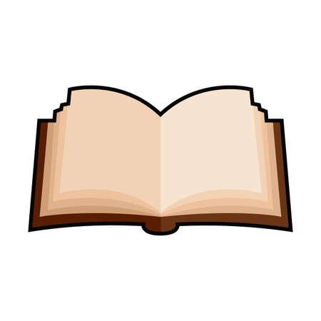 Illustration pour Isolated open book icon. School supplies icon - Vector - image libre de droit