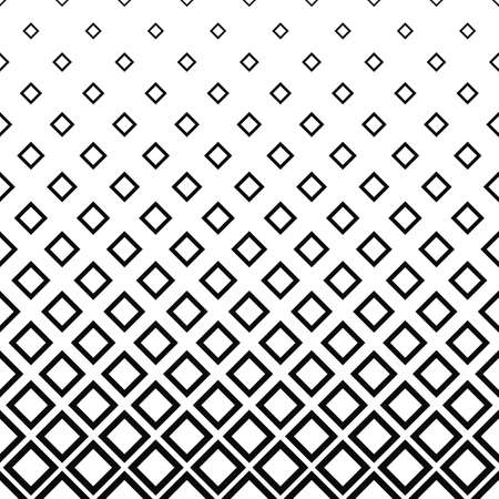 Illustration for Seamless monochrome square pattern design vector background - Royalty Free Image