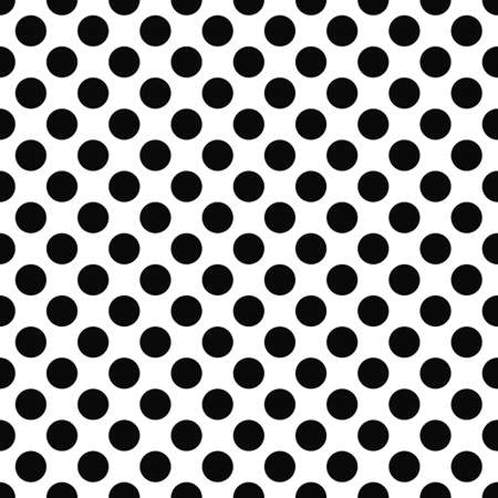 Ilustración de Seamless black and white polka dot pattern - Imagen libre de derechos