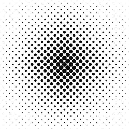 Ilustración de Repeating black and white vector circle pattern background - Imagen libre de derechos