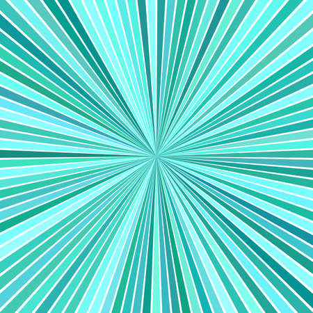 Photo for Turquoise psychedelic abstract starburst stripe background - Royalty Free Image