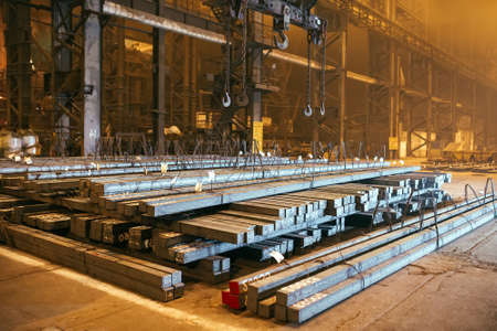 Photo for Warehouse metal blank. Electroplating plant for the metal - Royalty Free Image