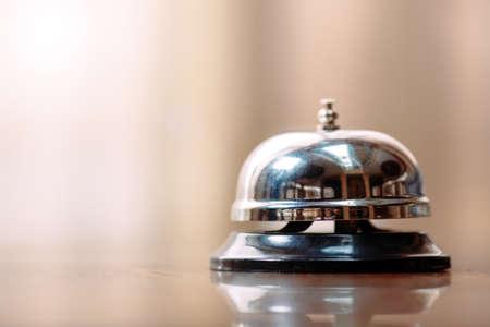 Photo pour Shot of a Desk Bell in hotel. - image libre de droit