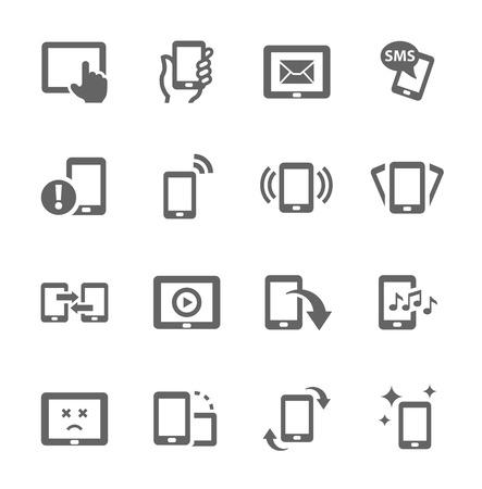 Illustration pour Simple set of mobile devices related vector icons for your design  - image libre de droit