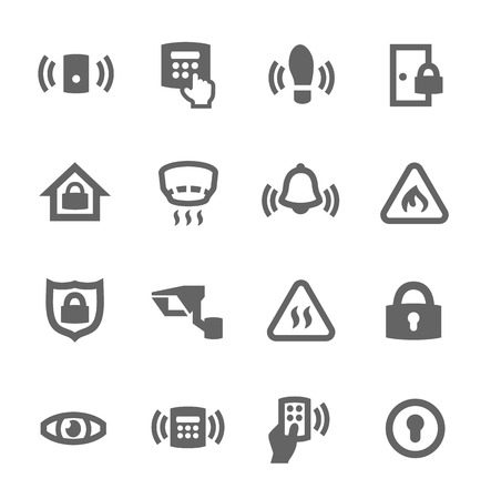 Simple set of perimeter security related vector icons for your design