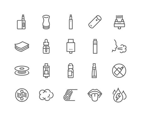 Line Vape Icons