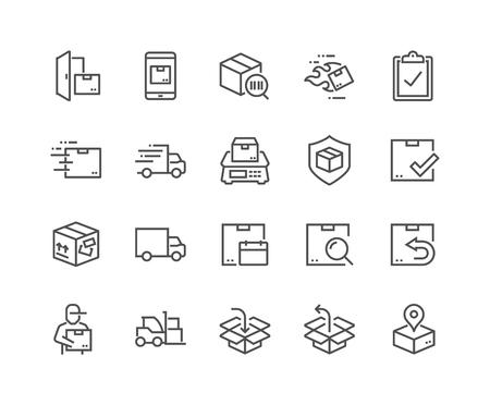 Ilustración de Line Shipping Icons - Imagen libre de derechos