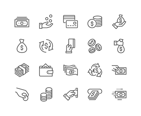 Illustration pour Line Money Icons - image libre de droit