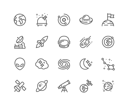 Illustration pour Line Space Icons - image libre de droit