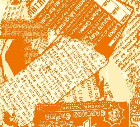 Newspaper grunge orange