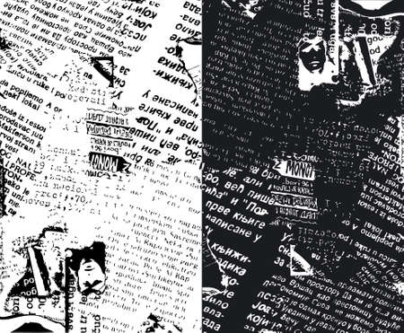 Newspaper grunge b&w