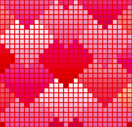 Illustration for Pink heart-shaped pattern - Royalty Free Image