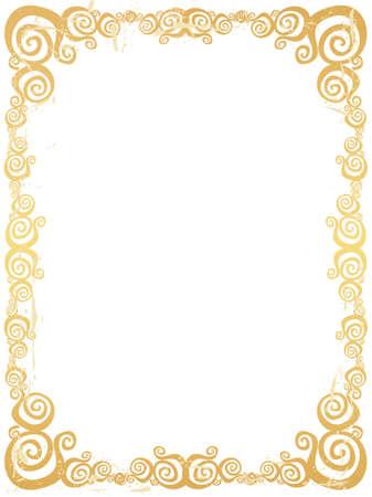 Grunge swirl frame.