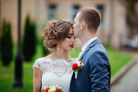 Photo for Happy couple. Wedding photo. The couple is in love. - Royalty Free Image