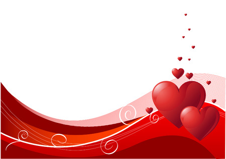 Abstract Valentines Day background with hearts. Place for copy\text