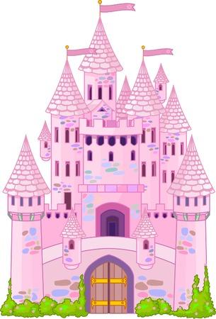 Illustration of a Fairy Tale Princess Castle