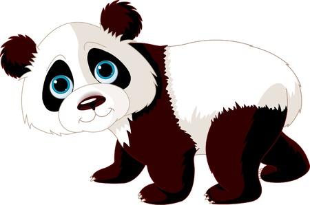 Very cute walking panda