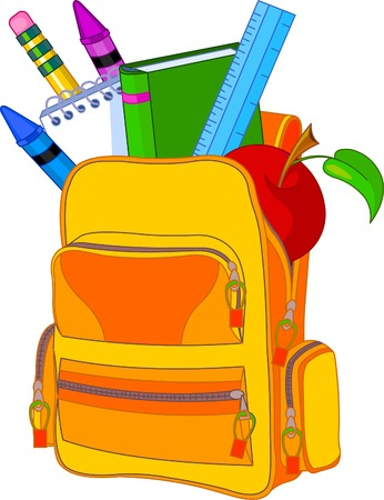 Illustration pour Back to school image concept. All objects are grouped and layered for easy editing. - image libre de droit