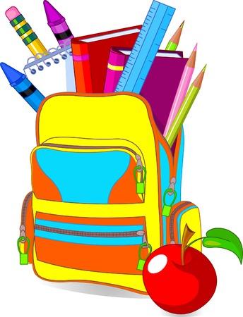 Illustration pour Back to school image concept content school bag and so on� - image libre de droit
