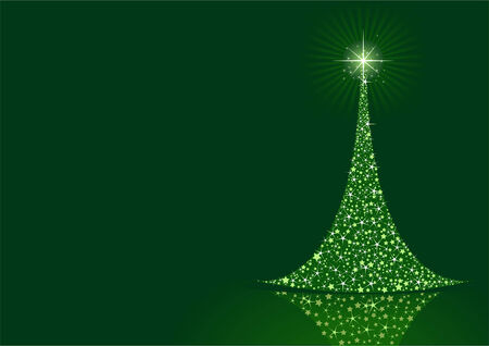 Stylized Christmas tree on  background with copy space