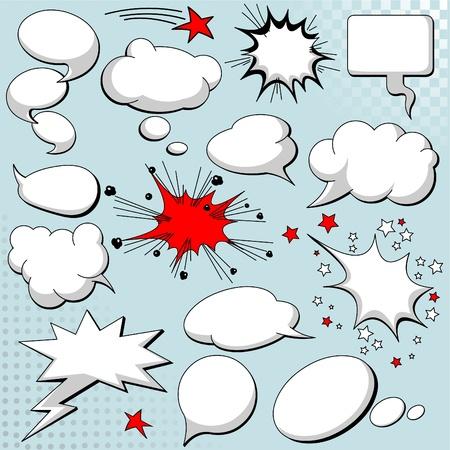 Illustration pour Comics style speech bubbles / balloons on background - image libre de droit
