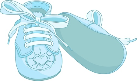 Illustration for  Blue baby shoes on white background - Royalty Free Image
