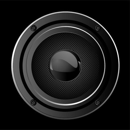 Illustration  of black Sound Speaker
