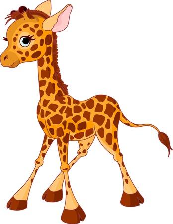 Foto für Illustration of little funny giraffe Calf - Lizenzfreies Bild