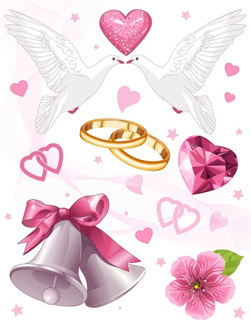 Foto de Wedding art for invitations and announcements - Imagen libre de derechos