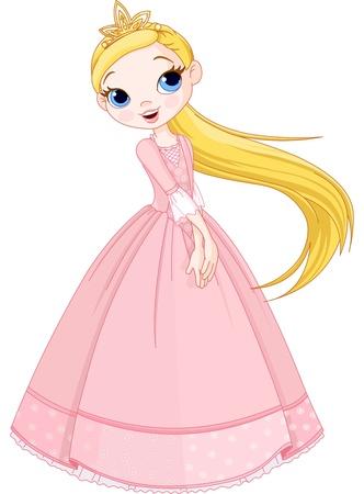 Illustration for Illustration of cute princess girl - Royalty Free Image