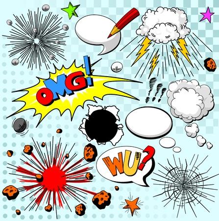 Illustration pour Comic elements for your design - image libre de droit