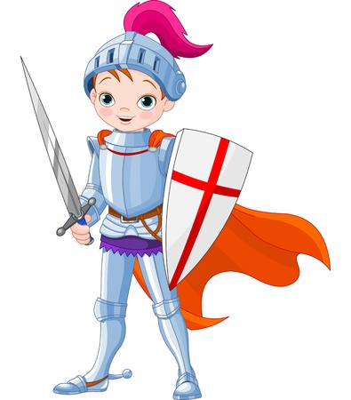 Illustration for  Illustration of little knight  - Royalty Free Image