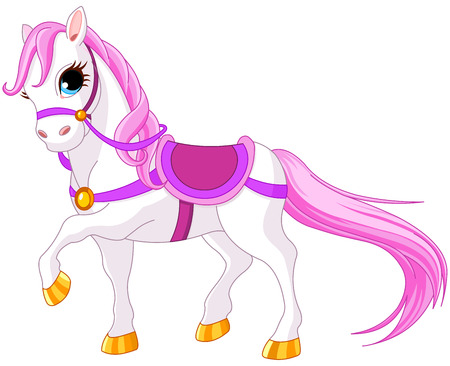 Very cute pink princess horse