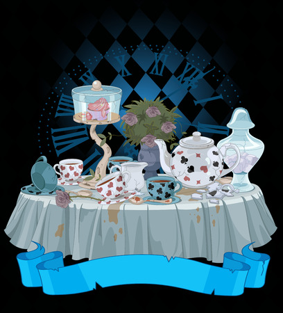 Wonderland Tea Party decorated table