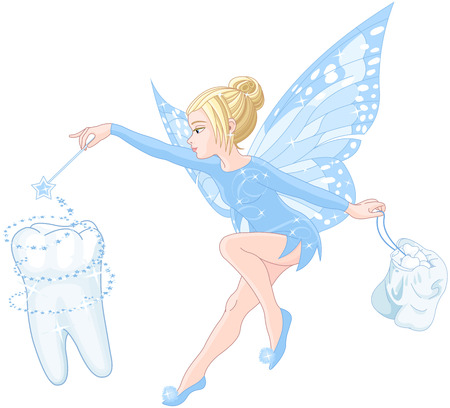 Illustration of smiling cute tooth fairy