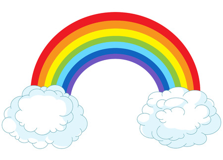 Illustration of rainbow in pastel colors