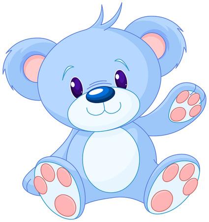 Illustration pour Illustration of cute toy bear - image libre de droit
