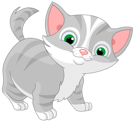 Illustration for Illustration of striped kitten - Royalty Free Image