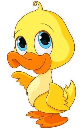 Foto de Illustration of baby duck smiling - Imagen libre de derechos