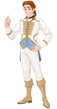 Illustration for The portrait of Prince Charming - Royalty Free Image