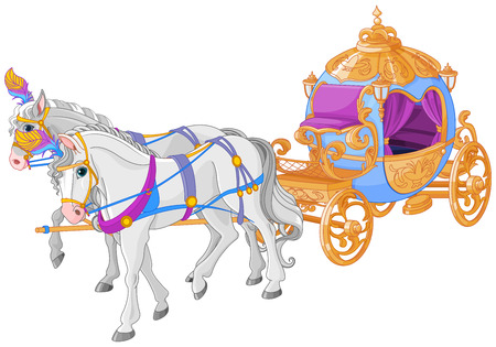 Illustration for The golden carriage of Cinderella. - Royalty Free Image
