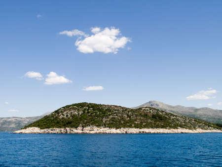 Mediterranean landscape - Adriatic sea. Location island near Dubrovnik, Croatia
