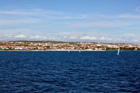 Zadar in Croatia. Panoramic shot - marine