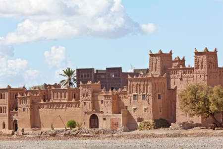 Fortified Mud Houses in the Kasbah, Ouarzazate, Morocco. Souss-Massa-Draâ region.