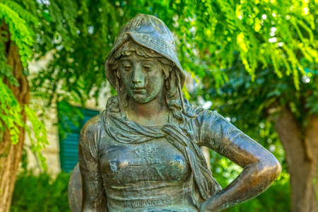Girl statue in Supetar
