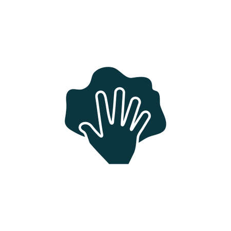 Hand with rag icon