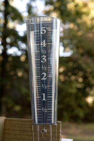 An empty rain gauge showing drought