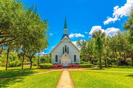 Photo for White Methodist Church - Royalty Free Image