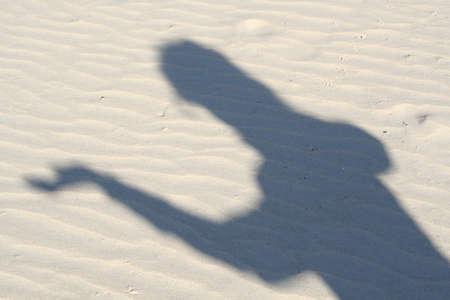 shadow on tha sand